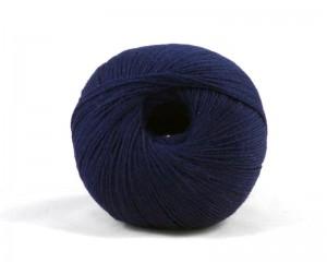 Merino Strickgarn Wolle Stricken Marine dunkelblau navy Natur