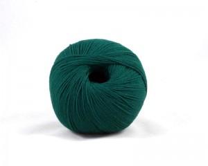 Merino Strickgarn Wolle flaschengrün moos grün