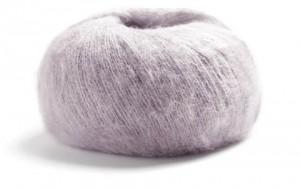 Strickgarn Lamana Cusi Alpaka wie Mohair flauschig hypoallergen kratzt nicht Garn Wolle zum stricken perlgrau beige