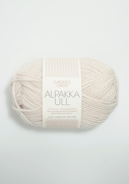 Sandnes Garn Knäuel Alpakka Ull Strickgarn 1015 kitt weiß stricken Wolle