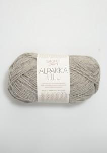 Sandnes Garn Knäuel Alpakka Ull Strickgarn 1042 gråmelert grau meliert stricken Wolle