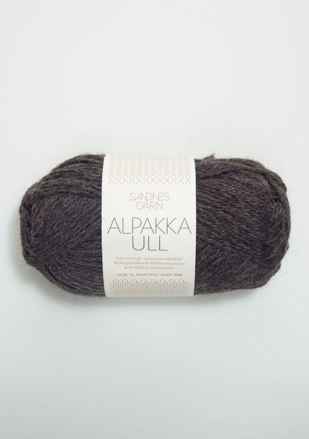 Sandnes Garn Knäuel Alpakka Ull Strickgarn 1053 gråmelert grau meliert stricken Wolle