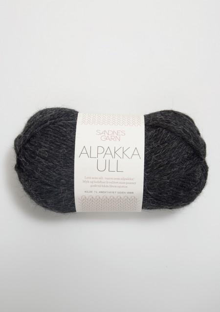 Sandnes Garn Knäuel Alpakka Ull Strickgarn 1088 koksmelert grau meliert stricken Wolle