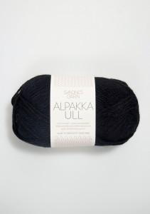 Sandnes Garn Knäuel Alpakka Ull Strickgarn 1099 svart schwarz stricken Wolle