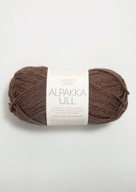 Sandnes Garn Knäuel Alpakka Ull Strickgarn 3161 mellombrun mittelbraun stricken Wolle