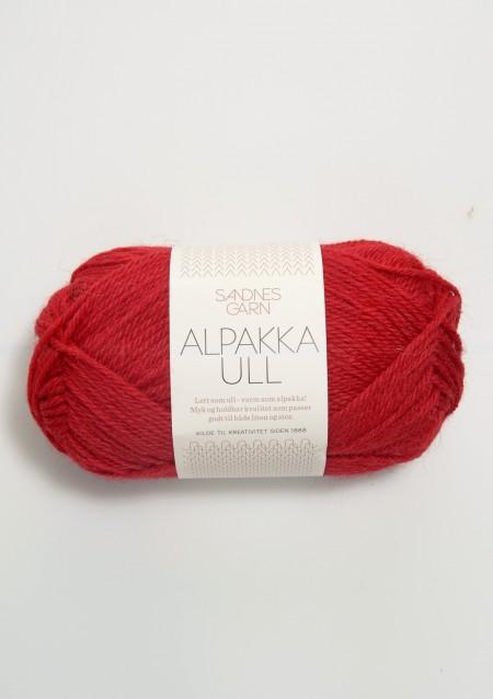 Sandnes Garn Knäuel Alpakka Ull Strickgarn 4219 rød rot stricken Wolle