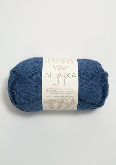 alpakka ull 6364 mørk blå Alpaka Wolle Sandnes Garn Sandnesgarn Norwegen stricken dunkel blau dunkelblau jeans