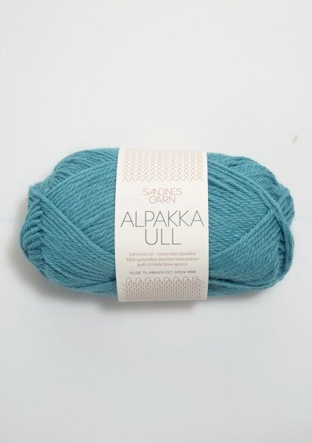 alpakka ull 7024 sjøgrønn Alpaka Wolle Sandnes Garn Sandnesgarn Norwegen stricken seegrün meer karibik türkis