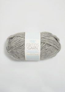 Hell grau meliert - hellgraues Knäuel Schafwolle aus Norwegen zum stricken oder filzen von SandnesGarn.