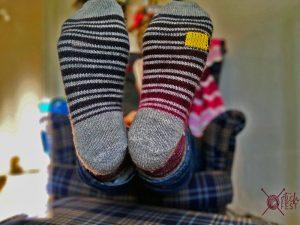 gestopfte Socken geflickt Flicken Wollsocken stricken Tutorial