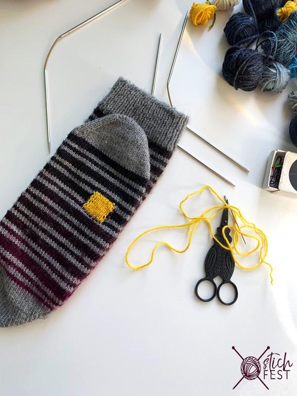Socken stopfen Tutorial Schritt für Step-by-step