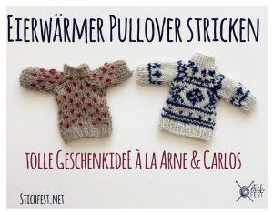 Eierwärmer Norweger Pullover à la Arne Carlos Puppen stricken Pulli