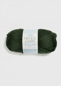 Sandnesgarn Fritidsgarn mørk grønn melert Filzwolle dunkel grün 8571