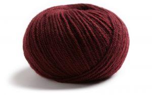 Lamana Como Merino Strickgarn Wolle leicht kratzt nicht Kinder stricken bordeaux dunkelrot weinrot rot burgund